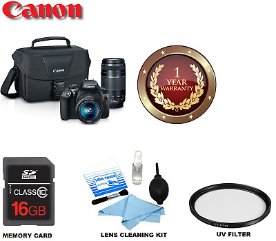 Canon EOS Rebel T6 DSLR Camera with 18-55mm and 75-300mm Lenses Kit 1159C008