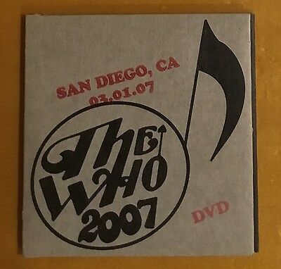 The Who - Live In San Diego March 1, 2007 - DVD