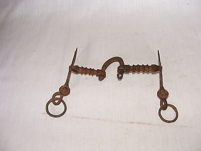 Old hand made and U shape iron horse bit for notty horse in good condition