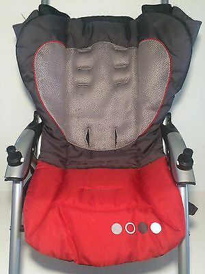 (1) Combi Helio EX Stroller Replacement Child Main Seat Fabric Cover Cushion Red