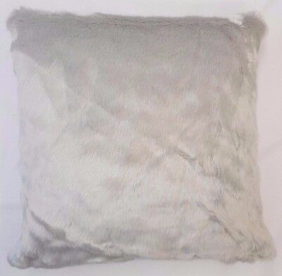 Silver Grey Luxuryultra Soft Faux Fur Velvet Backed Cushion Cover £6.99 Each