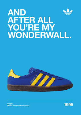 ALBUM Adidas Casuals Trainers Wonderwall POSTER Print A4 A3 BUY 2 GET 3RD FREE