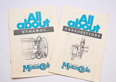 The Classic Motocycle All About Carburettors and All About Dynamos