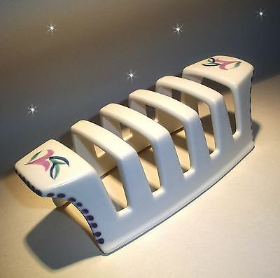 MINT Vintage POOLE pottery TOAST RACK hand painted sydenham 40s 50s 60s retro