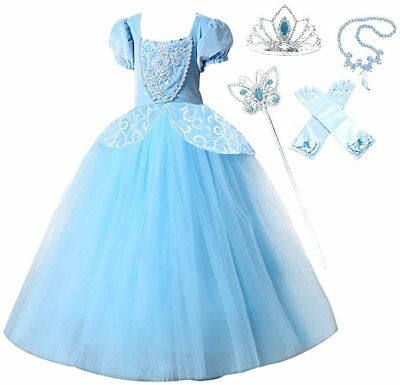 Special Edition Cinderella Party Dress Costume with Accessories