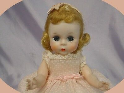 MADAME ALEXANDER-kins  SLW Blonde 1955 DOLL Dotted Swiss Dress PRECIOUS