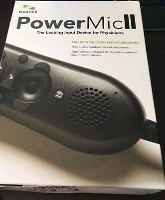 New Dictaphone Nuance PowerMic II Speech Recognition Hand Microphone 0POWM2N