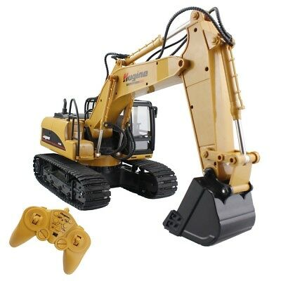 RC Truck Excavator Remote Control Crawler Tractor Kids Bulldozer Digger Toy New