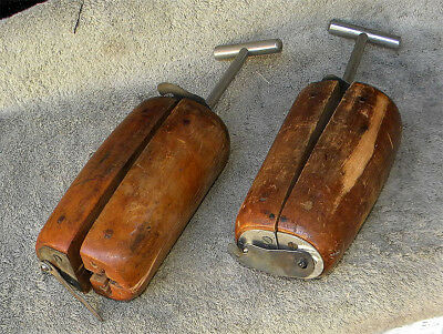 Primitive Wood Boot Trees - Stretchers – Pair * Mid-to-Late 1800s