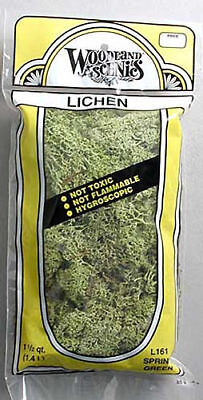 NEW Woodland N/HO Train Scenery Lichen Spring Green 1.5 Quarts L161