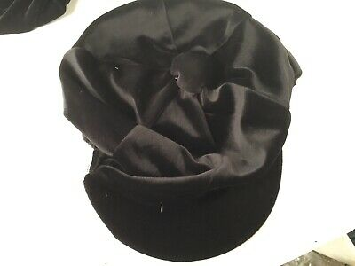 Riding Hat Cover Velour Navy Black & Two Tone