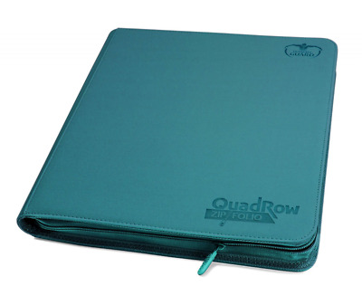 Ultimate Guard UGD010471 - 12 Pocket QuadRow ZipFolio XenoSkin, petrolblau