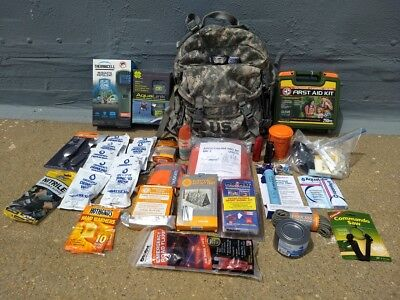 Emergency Survival, Disaster Preparedness, Bail-Out-Bag, 72+hr., Camping Pack.