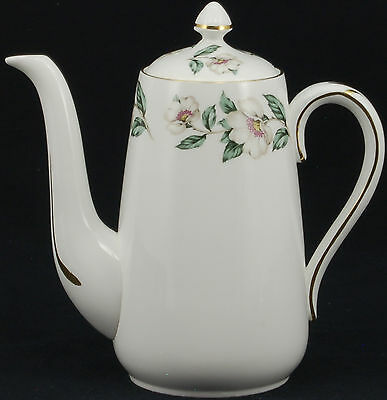 Crown Staffordshire Pear Blossom Coffee Pot and Lid