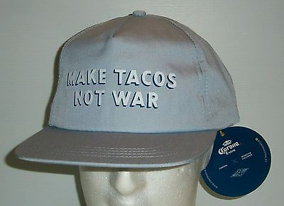 Corona Extra Beer brand new with tags adjustable back Make Tacos hat cap