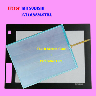 for MITSUBISHI GT1685M-STBA, GT1685MSTBA Touch Panel Glass with Protective Film