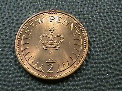 GREAT  BRITAIN    1/2  Penny   1971    UNCIRCULATED