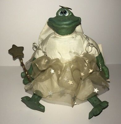 Russ Angel Frog Resin Figurine The Country Folks Dreamweaver