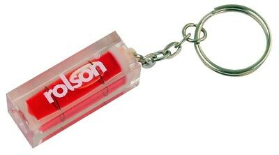 Rolson Red Mini Spirit Level with Keyring