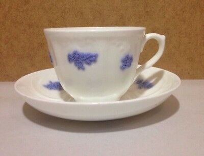 Adderly  Bone China  England Blue Chelsea Grape Cup & Saucer