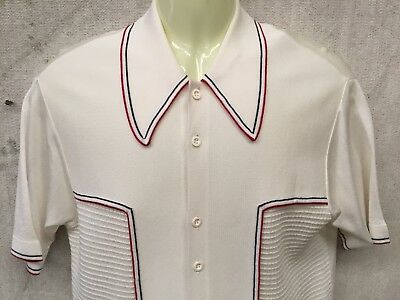 COOL VINTAGE SUAVE SHORT SLEEVE SHIRT ROCKABILLY Hipster Bowling Retro Large