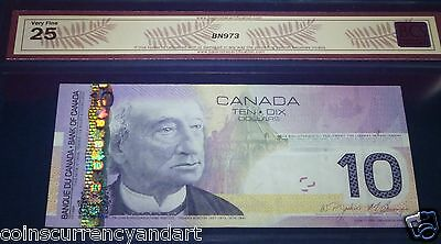 4844484  RADAR 2- DIGIT  Bank of Canada 2005  $10