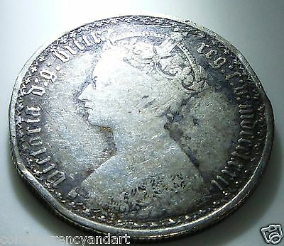 GOTHIC FLORIN 1872. UK (Great Britain) MDCCCLXXII  FLORIN
