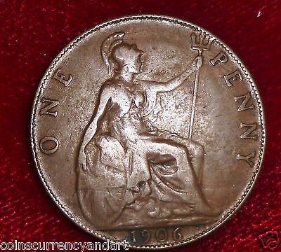 UK  Great Britain 1906 Penny  FREE SHIPPING