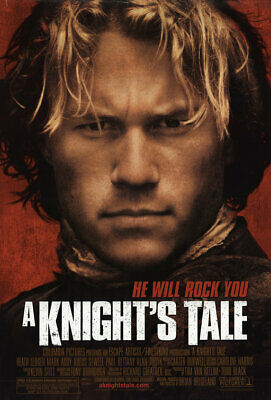 """A KNIGHT'S TALE 2001 Original DS 2 Sided 27X40"""" US Movie Poster Heath Ledger"""