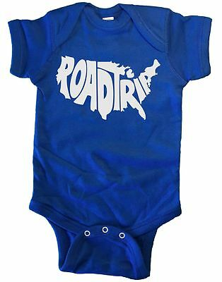 Road Trip US Map Infant Baby One Piece