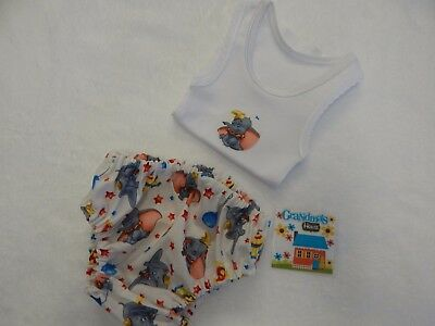 Baby Singlet and Nappy Diaper Cover - Classic Dumbo  - Newborn Size