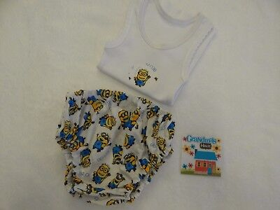 Baby Singlet and Nappy Diaper Cover - Minions Despicable Me - Newborn Size