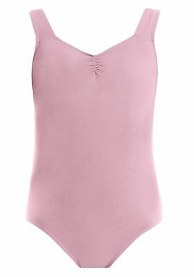 Brand New Energetiks Thick Strap Leotard Colour Ballet Pink Size Child X Large