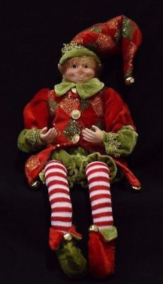 Christmas Elf Doll. Multiple variations. bendable legs and hands
