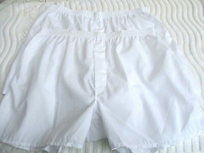LOT of 2..VTG 60'S 70'S..WHITE..COTTON/ POLY..BOXER..BRIEFS..NEW OLD STOCK..XL