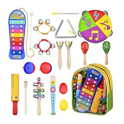 Toddler Musical Instruments - 16 Pcs Preschool Learning Percussion Toys for T...