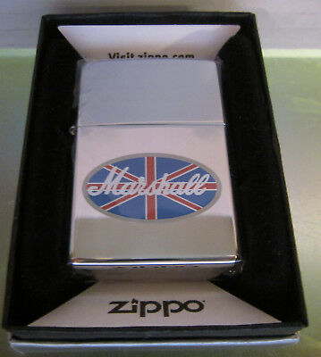 Vintage RARE NEW 2002 MARSHALL AMP ZIPPO LIGHTER  NEW IN BOX SEALED IN PLASTIC