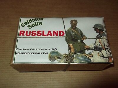 "Wehrmacht Wwii Soap Bar ""Russland"" - Repro, Copy / Soap For Soldiers"