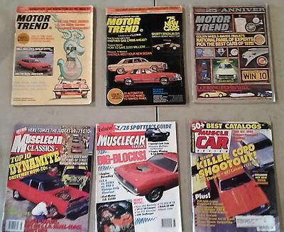 Vintage 25Th Anniversary Motor Trend & Muscle Car Classics Mixed Lot Of 6