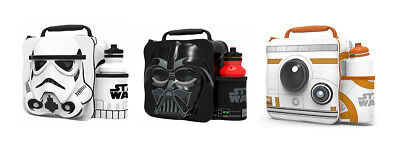 Kids Children Insulated 3D Lunch Bag Box And Drink Sport Water Bottle Starwars