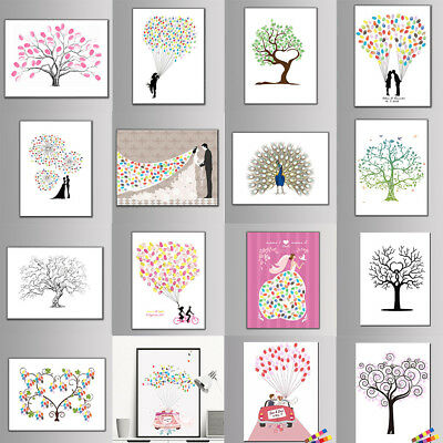 Large Wedding Fingerprint / Thumbprint Tree- Alternative Guest Book