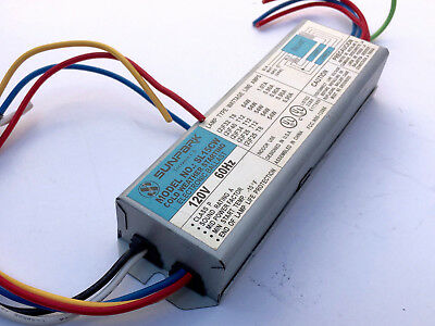 Sunpark Cold Weather Electronic Ballast T8 T12, Fluorescent 2 lamp SL15CW T8 T12