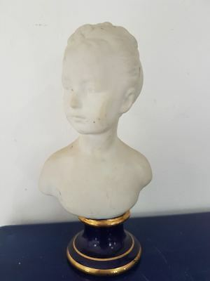 Woman bust. Buste femme biscuit Sevres?