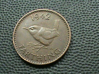 GREAT  BRITAIN    1  Farthing    1942    XF     WREN