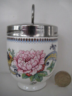 Rare Crown Staffordshire King Size Double 2 Egg Coddler Pagoda Type Pattern