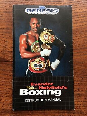 Evander Holyfield's Real Deal Boxing Sega Genesis Game Instruction Manual Only