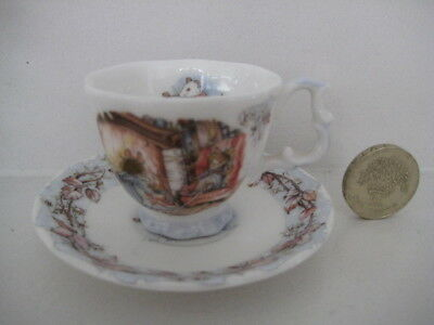 ROYAL DOULTON BRAMBLY HEDGE MINIATURE WINTER  DUO  CUP SAUCER  1st  ENGLAND