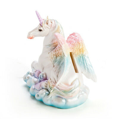 Flying Unicorn On Cloud Money Bank Box Kawaii Fantasy Gift Novelty