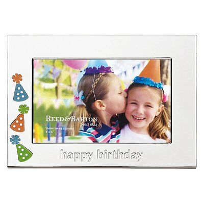 Reed & Barton Lenox Let's CELEBRATE Happy Birthday Gift Party Silverplated Frame