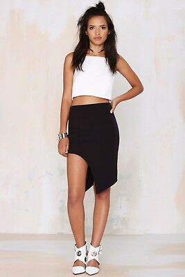Nasty Gal Primi Pocket Up Tight Suede Skirt Size S M NG26